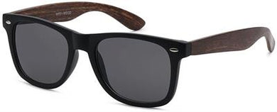 Retro Faux Wood Sunglasses - Dark Brown