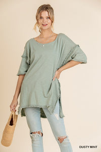 High Low Tunic with Fringe