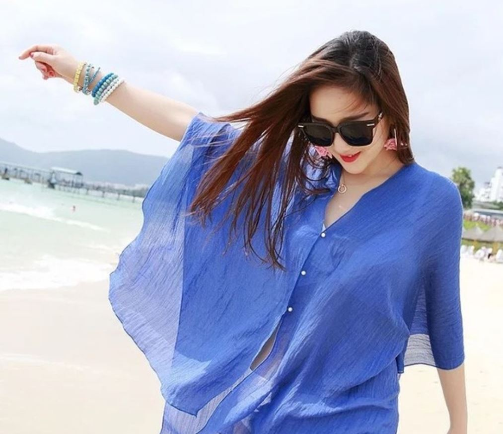 Chiffon Poncho And Cover Up Tropical Envy