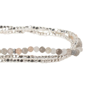 Scout Bracelet/Necklace in Moonstone/Silver