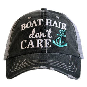 Boat Hair Don't Care Hat with Anchor