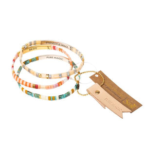 Good Karma Miyuki Bracelet | Pure Magic - Neutral/Gold