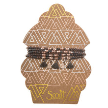 Metallic Tassel Wrap Bracelet/Necklace - Bronze/Rose Gold