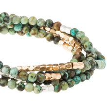 Stone Wrap Bracelet/Necklace - African Turquoise