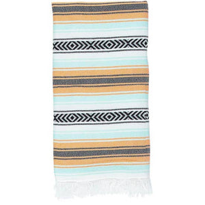 Todos Santos Turkish Towel - Orange/Mint