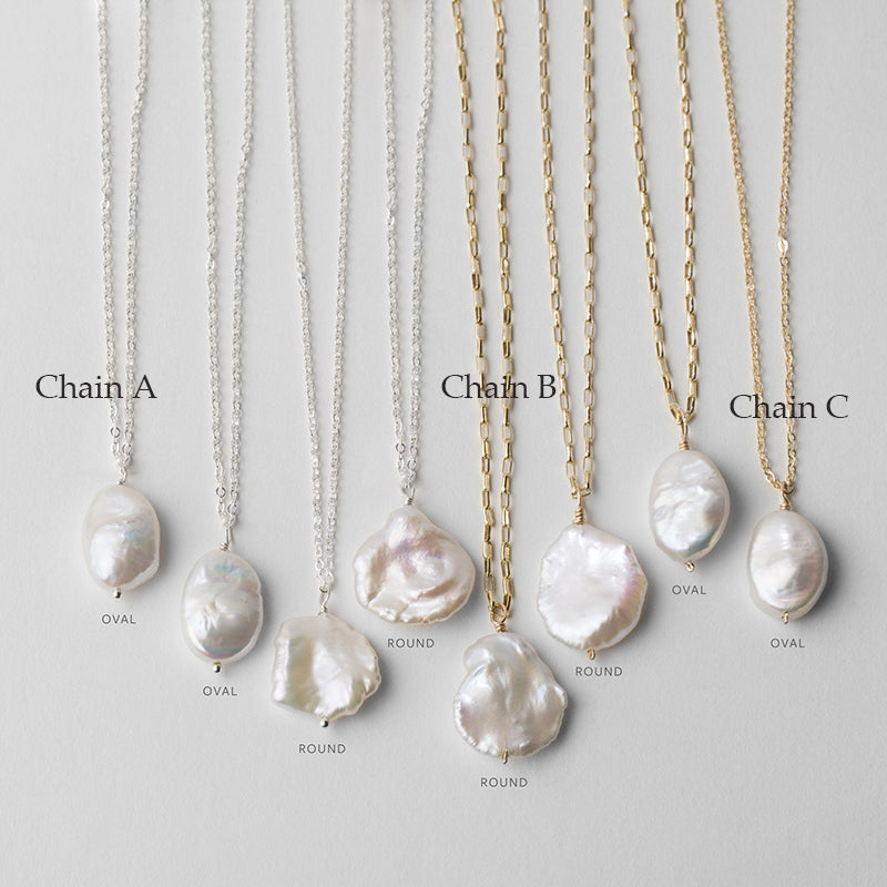 Custom Pearl Drop Pendants