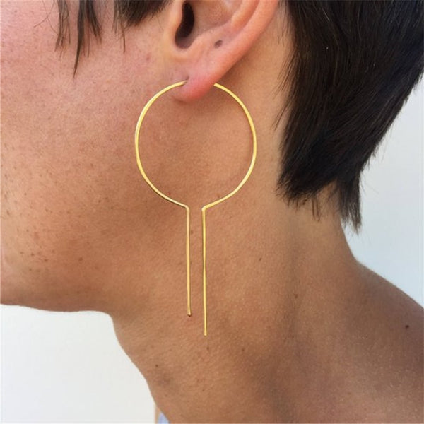 Open Ended Hoop Earrings