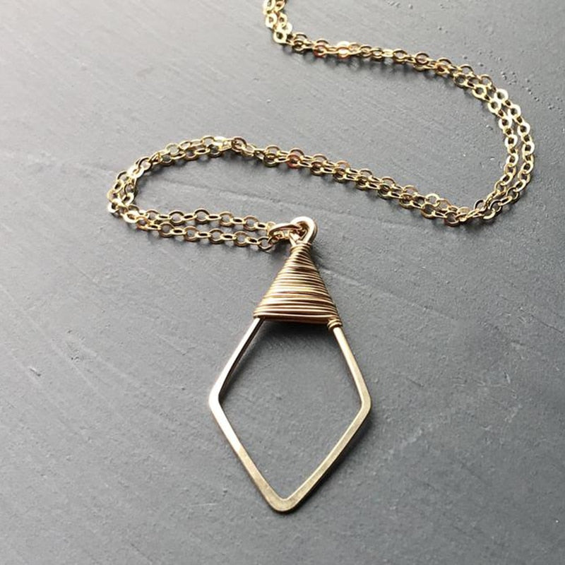 Wrapped Arrowhead Necklace