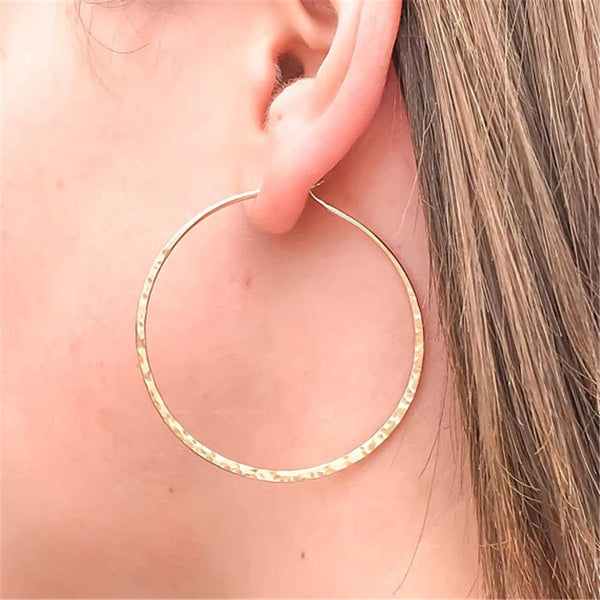 Rippled Hoop Earrings