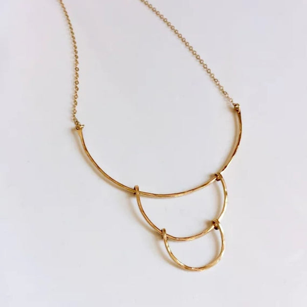 Layered Cut Halo Necklace