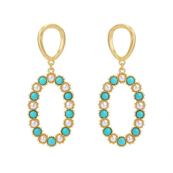 Mint Green Drop Earrings