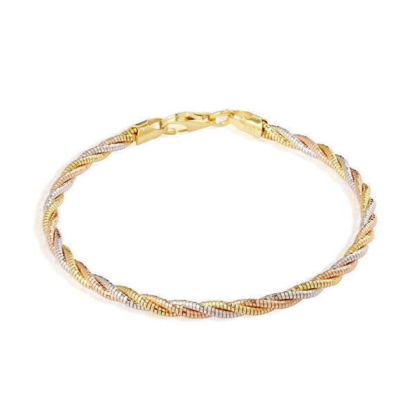 Thin Multi Color Italian Braid Bracelet