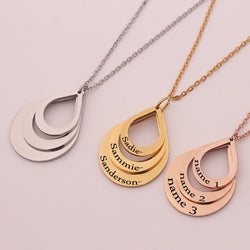 Multi Layer Name Pendant
