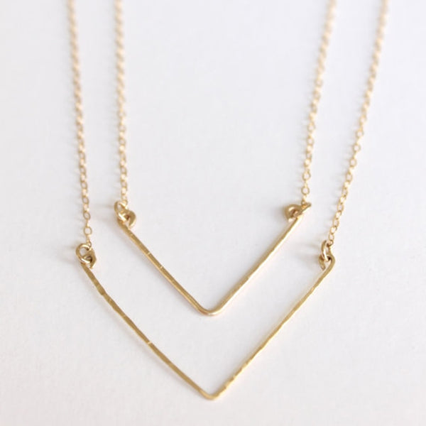 2 Piece Arrowed Necklace