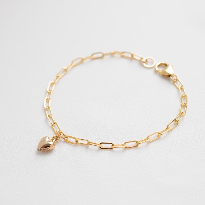 Gold Linked Heart Bracelet