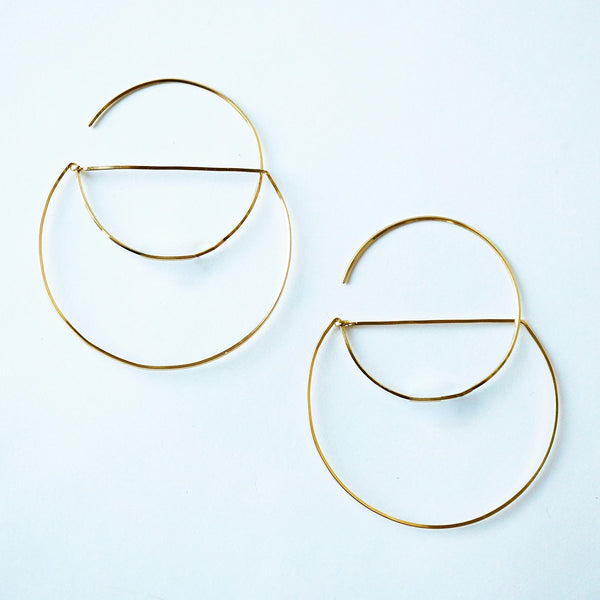 Open Cut Hoop Earrings