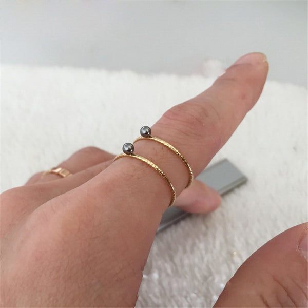 Stackable Mini Pearl Dot Rings