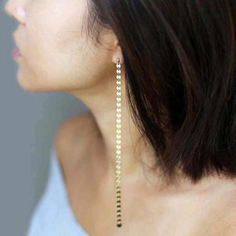 Linked Coin Earrings