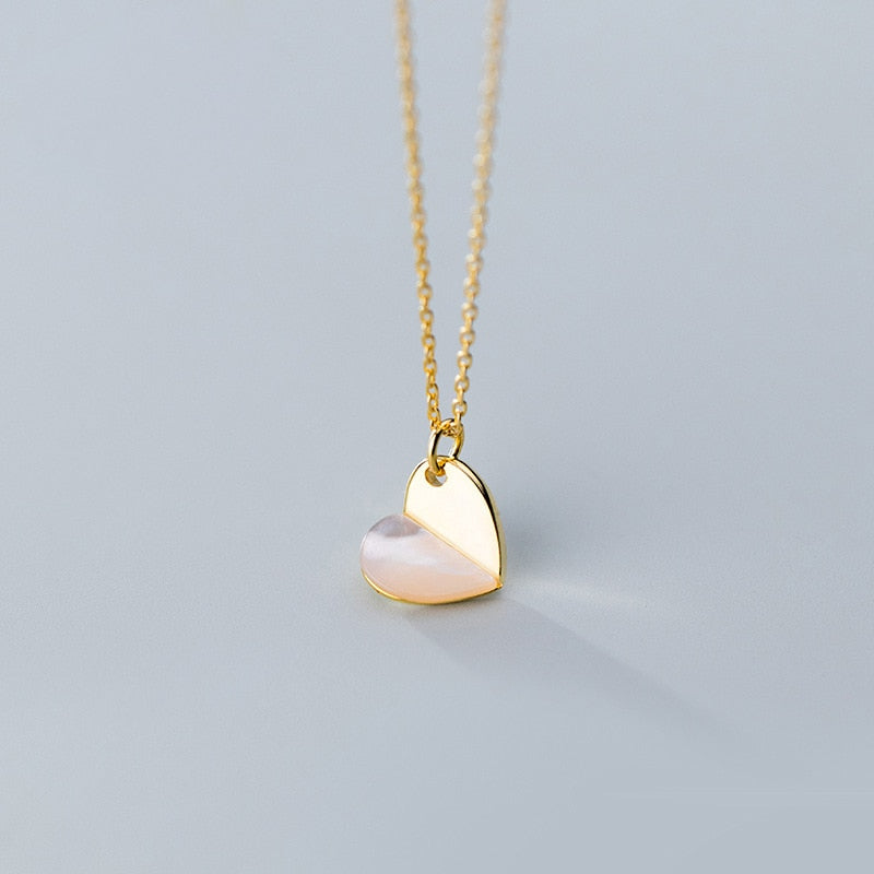 Gold Chain Heart Choker