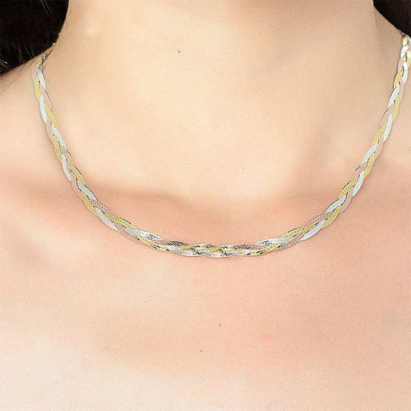Multi Color Italian Braid Choker