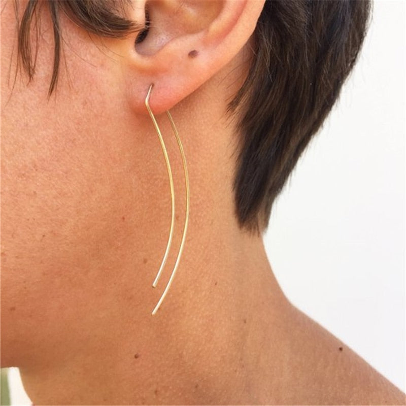 Doubled Open Curved Earrings
