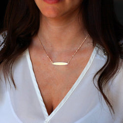 Gold Elliptical Choker