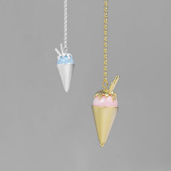 Ice Cream Cone Drop Tassel Earrings with Turquoise