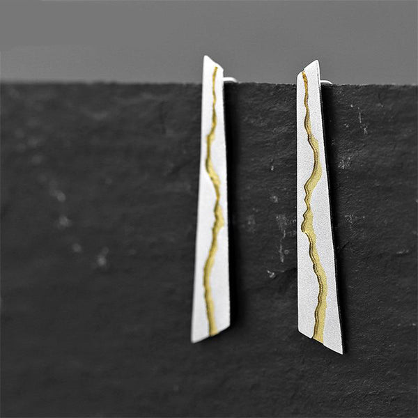 Cracked River Earrings