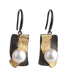 Twilight Pearl Drop Earrings
