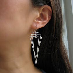 Multi Tri Drop Earrings