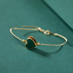 Glass Heart Bangle