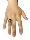 Onyx Diamond Stone Ring (14K Gold)