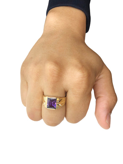 Simple Amethyst Ring (14K Gold)