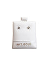 White 14K Gold Zirconia Studs