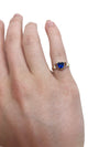 Dark Blue Heart Ring