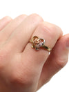 Three Stone Heart Ring