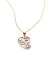 Floral Heart Quince Necklace
