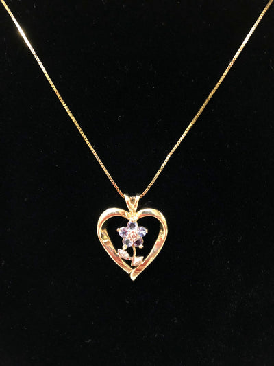 Flower Heart Pendant