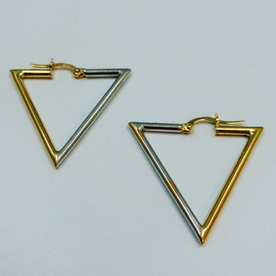 Women's Triangular Earring 14k