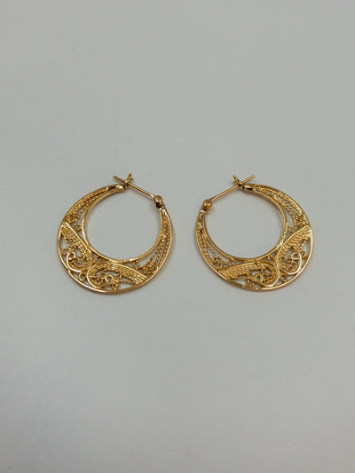 Oval Earrings 14k Gold