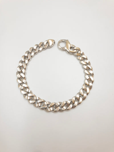 14K White Gold Miami Cuban Bracelet