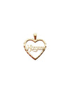 Mother Heart Charm - 10k gold