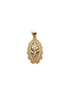 Oval Rose Charm - 10k gold