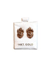 Crazy Fire Head Earrings