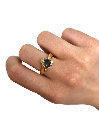 Triangle Alexandrite Ring