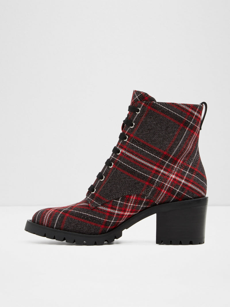 Aldo DarkRed Lace-up Ankle Boots