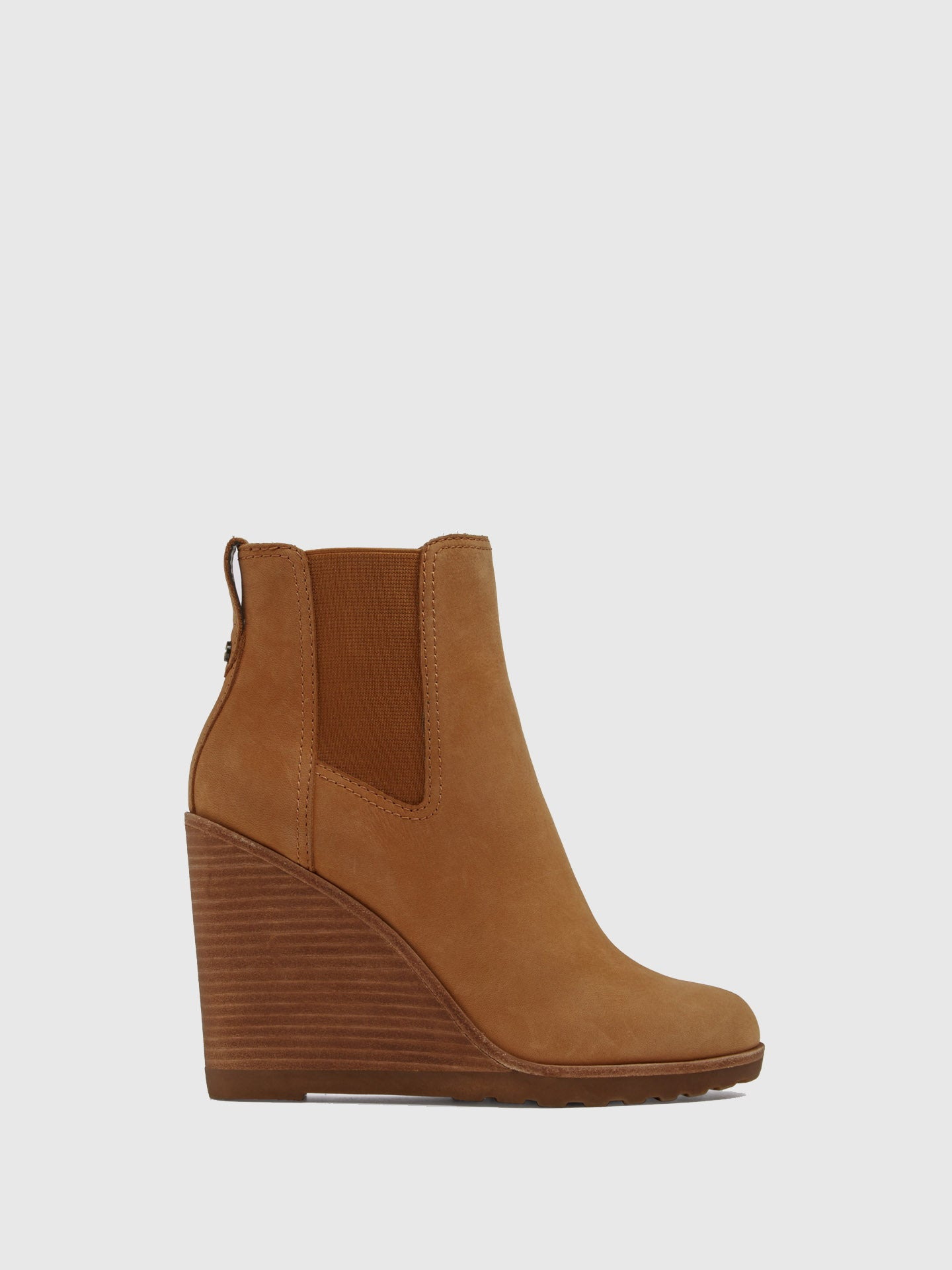 Aldo Brown Wedge Ankle Boots