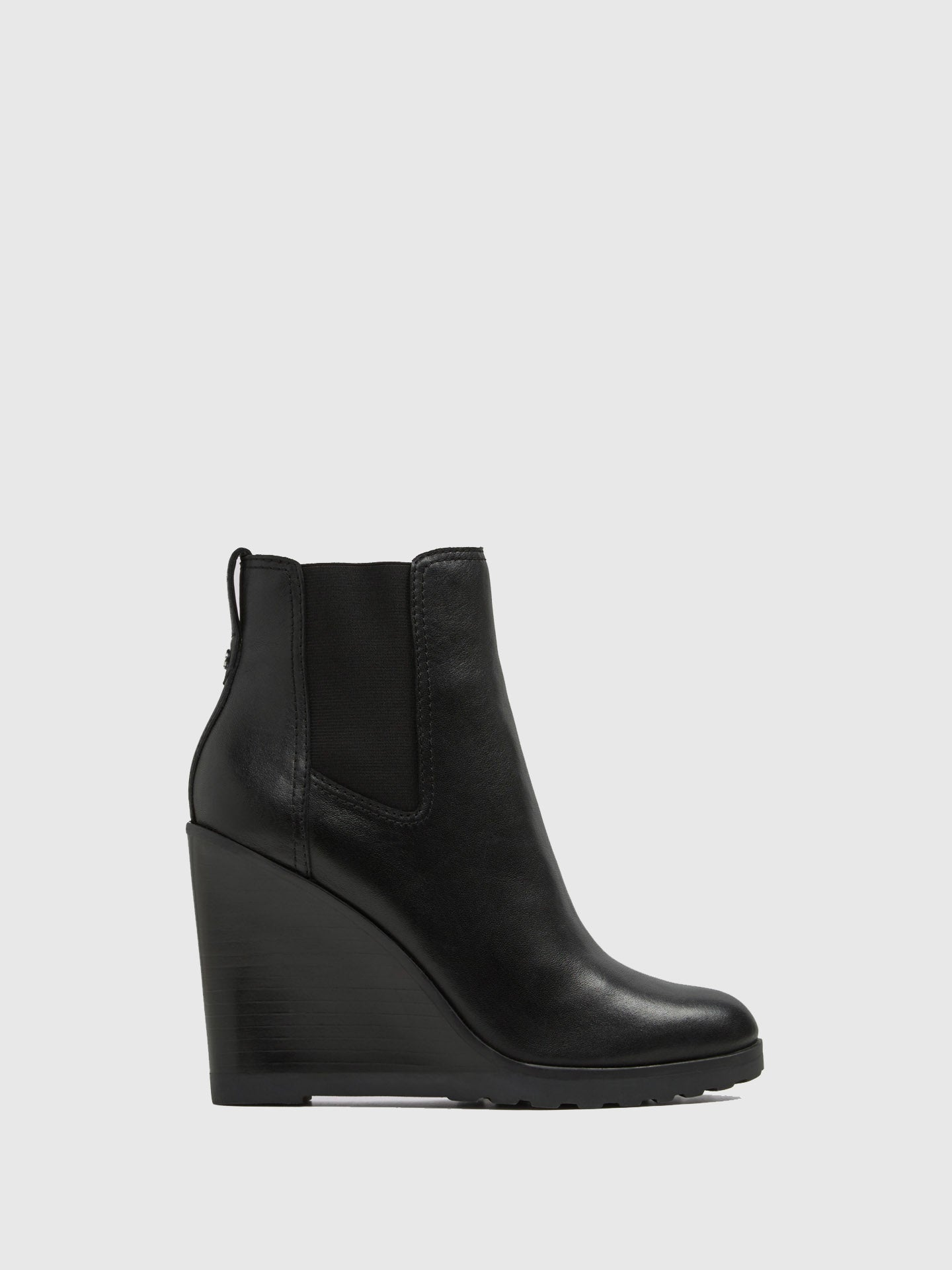 Aldo Black Wedge Ankle Boots