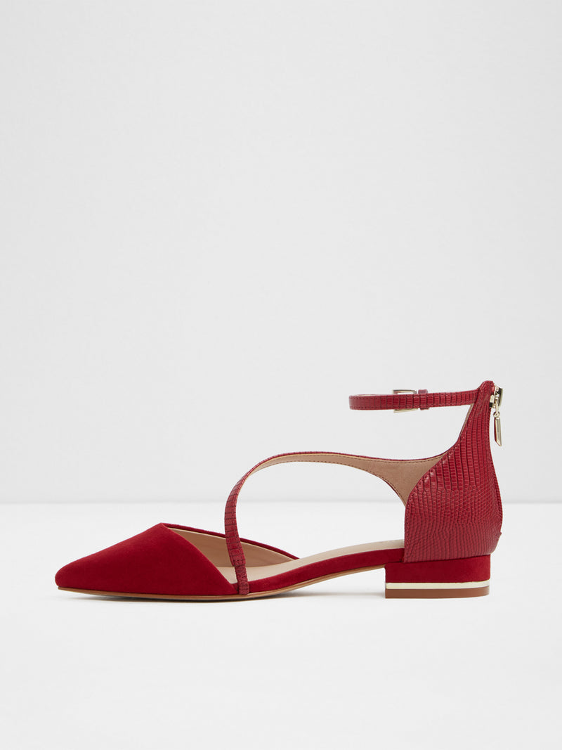 Red Ankle Strap Shoes