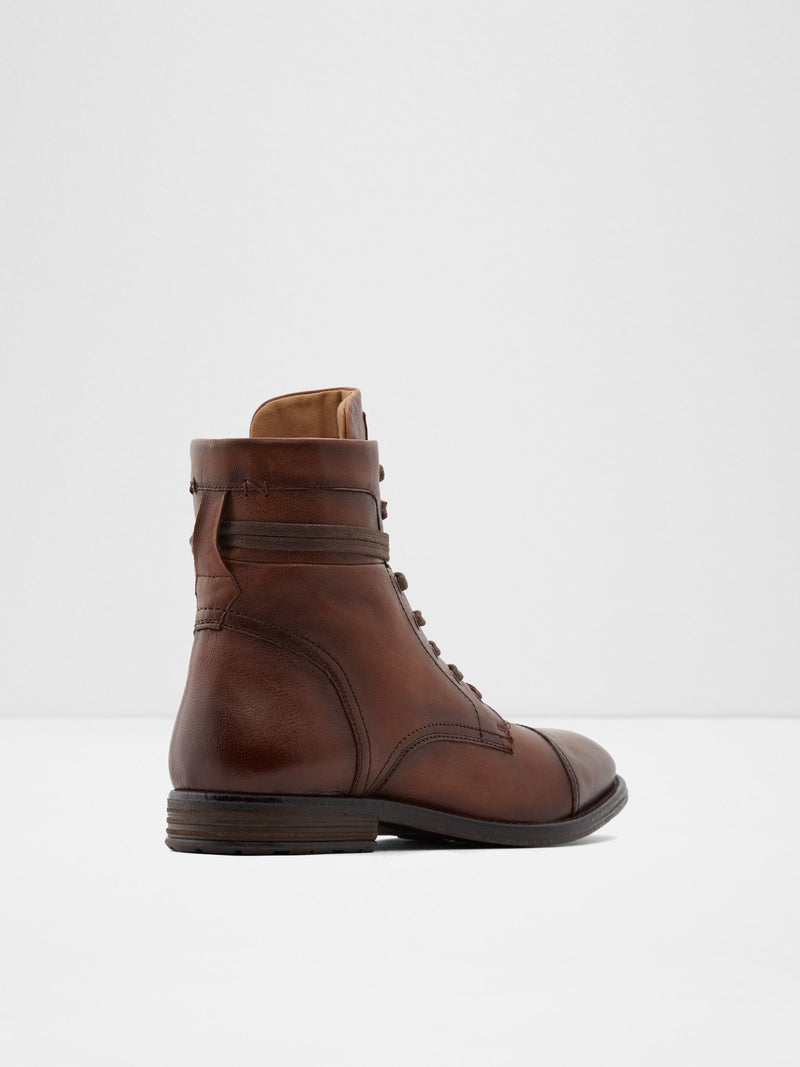 Aldo Brown Zip Up Boots